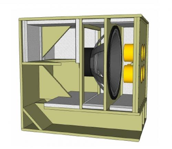 18sound 21 bandpass subwoofer kit. Black Bedroom Furniture Sets. Home Design Ideas