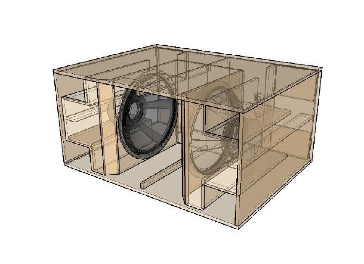 18sound doppel 21 bandpass subwoofer nach eighteensound bauplan lautsprecher technik. Black Bedroom Furniture Sets. Home Design Ideas